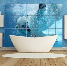 bathroom red mosaic glass tile bathroom wall and floating