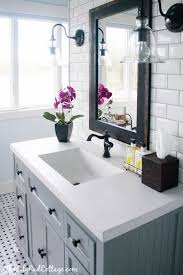 bathroom rustic double sink vanities white floor tile jacuzzi
