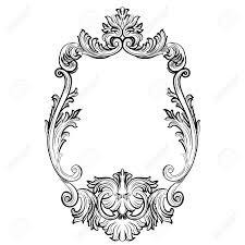 Franzosische Luxus Einrichtung Barock Design Barock Rokoko Spiegelrahmen Dekor Vector Französisch Luxus Reich