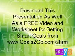 Setting Smart Goals Worksheet Download This Presentation As Well As A Free Video And Worksheet