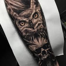 20 owl skull tattoos designs
