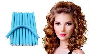 flexi rod stretch long 4b c hair heatless curling flexi rod set 10 pack groupon