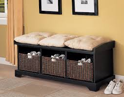 black shoe storage ottoman bench hinged it s really useful