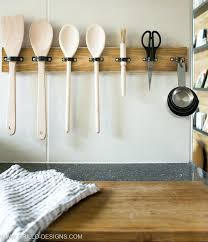 kitchen utensil holder ideas hanging utensil holder make a diy utensil hanging rack in 10 mins