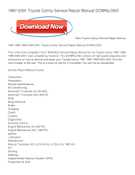 toyota camry chiltons 1997 2001 repair manual download books to ipad