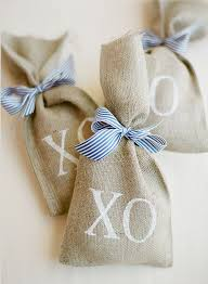 burlap favor bags lovely seaside nantucket wedding captured by jose villa