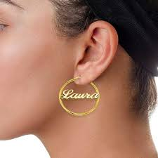 name plate earrings monogram gold earrings monogram jewelry be monogrammed