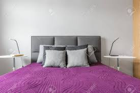 big bed pillows big bed with grey decorative pillows and purple bedcover in modern