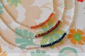 make crystal necklace images How to make a crystal bar necklace running with sisters jpg