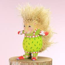 patience brewster mini peety porcupine ornament