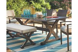 large outdoor dining table moresdale rectangular dining table ashley furniture homestore