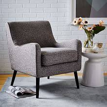mid century show wood upholstered chair west elm modern cabin