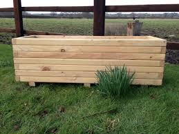 110 cm long wooden planter large u2013 pretty planter