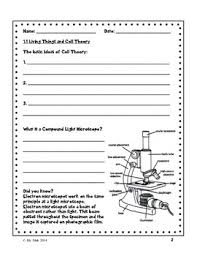 grade 8 living things and cell theory worksheets by wilson mak tpt
