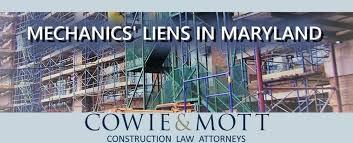 cowie u0026 mott u2013 mechanics u0027 lien law attorneys in maryland and dc
