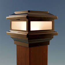 Solar Lights Fence - deck u0026 fence post caps wood metal glass u0026 solar decksdirect