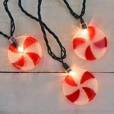 spiral peppermint novelty lights