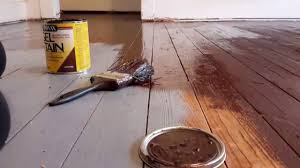 Painting Over Polyurethane Cabinets by Diy Gel Stain Over Painted Wood Floors Youtube