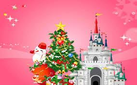 pink christmas tree wallpaper ne wall