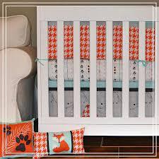 Porta Crib Bedding Set by Amazon Com Dk Leigh Fox Houndstooth 5pc Crib Bedding Set Mint