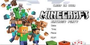 free printable birthday invitations minecraft best of online printable birthday party invitations gallery