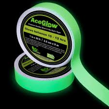 amazon com glow in the dark fluorescent tape 30 u0027 ft length x 1