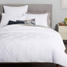 Duvet With Quilt Roar Rabbit Zigzag Texture Quilt Shams White West Elm