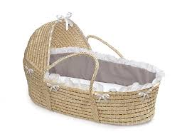 amazon com badger basket natural hooded moses basket gray
