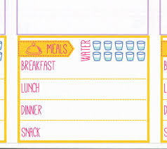 daily food log stickers printable daily menu meal plan meal