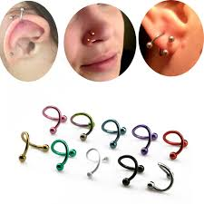 steel lip rings images 2pcs s shape surgical steel spiral twisted lip ring nose rings 16 jpg