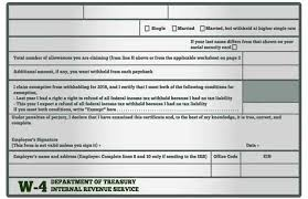 W 4 Withholding Table How To Fill Out Your W 4 Form Investopedia