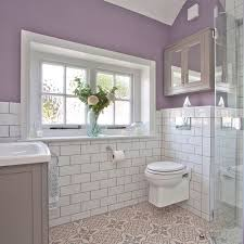 original bathroom tiles 4 bedroom lilac and white bathroom makeover with metro tiles and shower