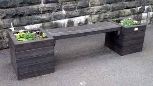 Planter Bench Seat Recycled Plastic Furniture Ripponden Recycled Plastic Modular