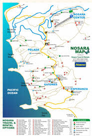 Map Of San Jose Costa Rica by Nosara Travel Costa Rica Map Of Nosara And Lodging