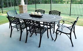 oval aluminum patio table popular cast aluminum patio table and chairs with cast aluminum