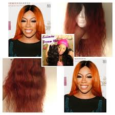 orange spice color k michelle burnt orange inspired hair color tutorial youtube