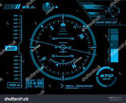 Futuristic Clock by Sci Fi Futuristic User Interface Hud Stock Vector 188443745