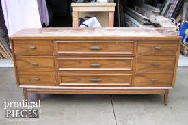 Midcentury Modern Sideboard Mid Century Modern Dresser Makeover Prodigal Pieces