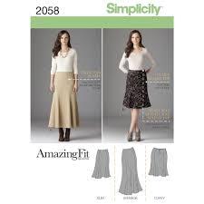 pattern for misses u0027 u0026 plus size amazing fit skirt simplicity