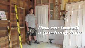 How To Hang A Prehung Exterior Door How To Install A Pre Hung Door