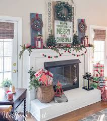 White Christmas Mantel Decorations by 3454 Best Christmas Images On Pinterest Christmas Ideas Merry