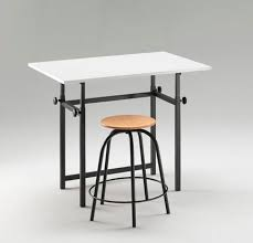 Contemporary Drafting Table Contemporary Drafting Table Painted Wood Rectangular