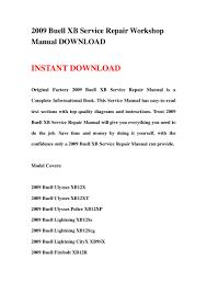 2009 buell xb service repair workshop manual download