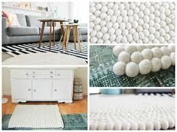 skandinavisches design mit filzkugelteppiche teppichunterlagen - Teppich Skandinavisches Design