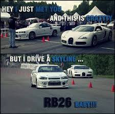 Bugatti Meme - rb26 kicks asses nissan gtr skyline bugatti www teamimports com