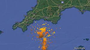 Lightning Strike Map Lightning West Country Itv News