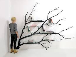unusual shelving fallen tree branch is adapted into beautifully unusual shelving
