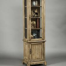 Antique Brass Display Cabinet Varnished Wooden Corner Display Cabinet In Mahagony With Clear