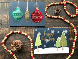christmas in july holiday cards diy christmas card tutorial