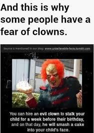 Afraid Meme - who is afraid of clowns meme by leslie umphlett memedroid